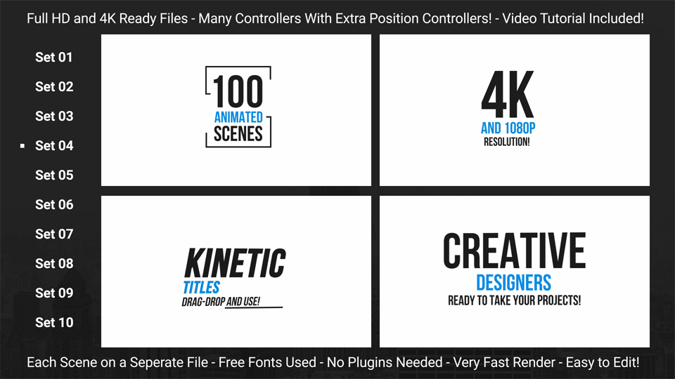 100 clean minimal kinetic typography corporate after effects templates f5. Black Bedroom Furniture Sets. Home Design Ideas