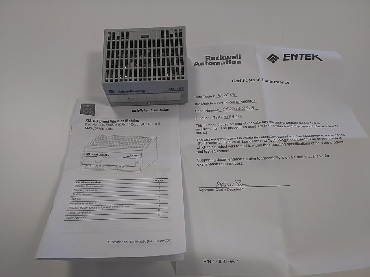 Entek xm 162 overall vibration module 1