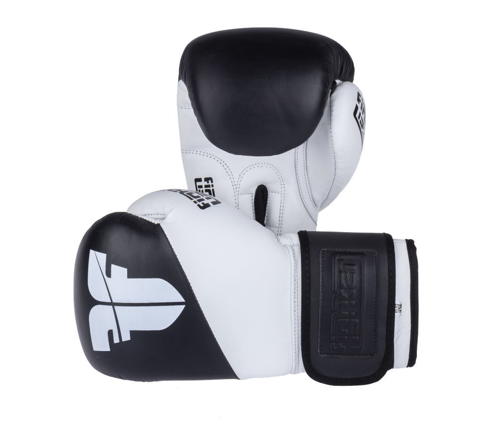 Боксерские перчатки SPLIT белые КОЖА ( Бренд Чехия ) New