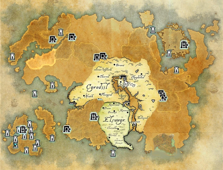 Eso World Map | World Map