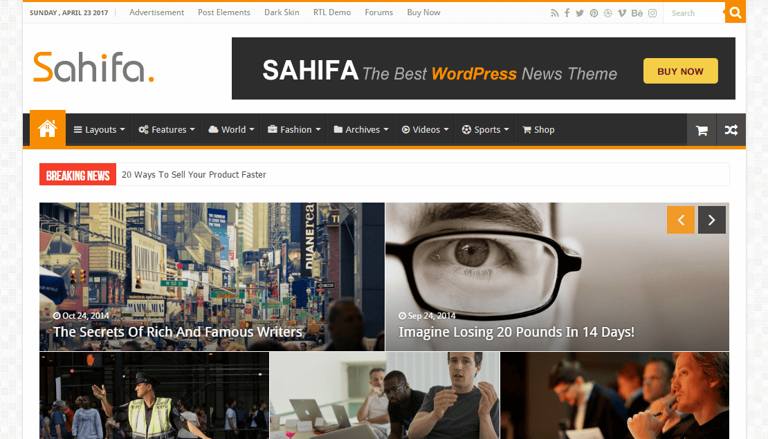 Sahifa | AMP WordPress Theme
