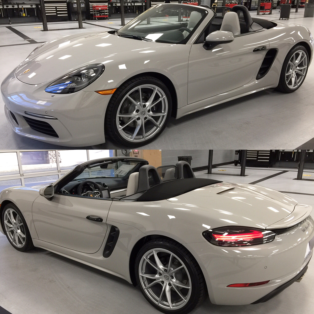 White Boxster With Two Tone Black Crayon Interior
