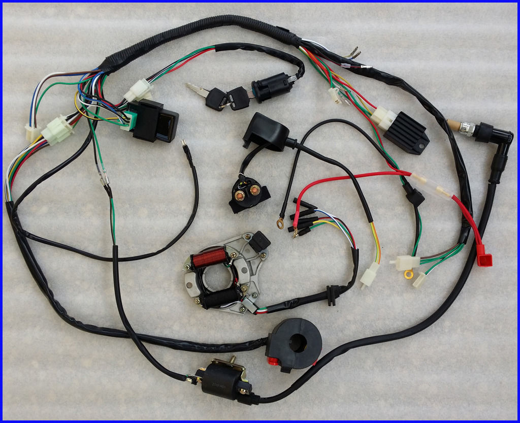 50 70 90 110cc Full Wire Harness Wiring Cdi Assembly Atv