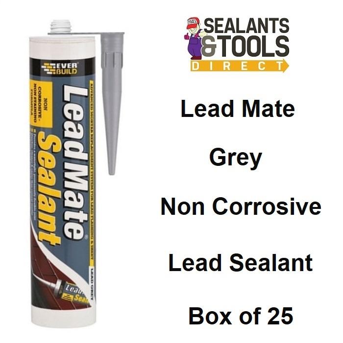 Everbuild Lead Mate Sealant Leadmate Box of 25 Grey