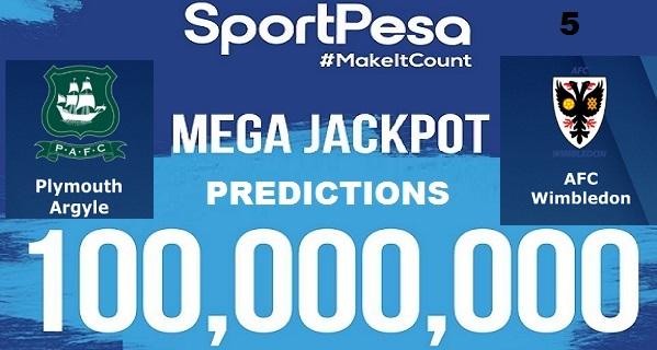 Sportpesatips - Plymouth vs AFC Wimbledon Predictions & H2H:: Sportpesa Mega Jackpot Predictions