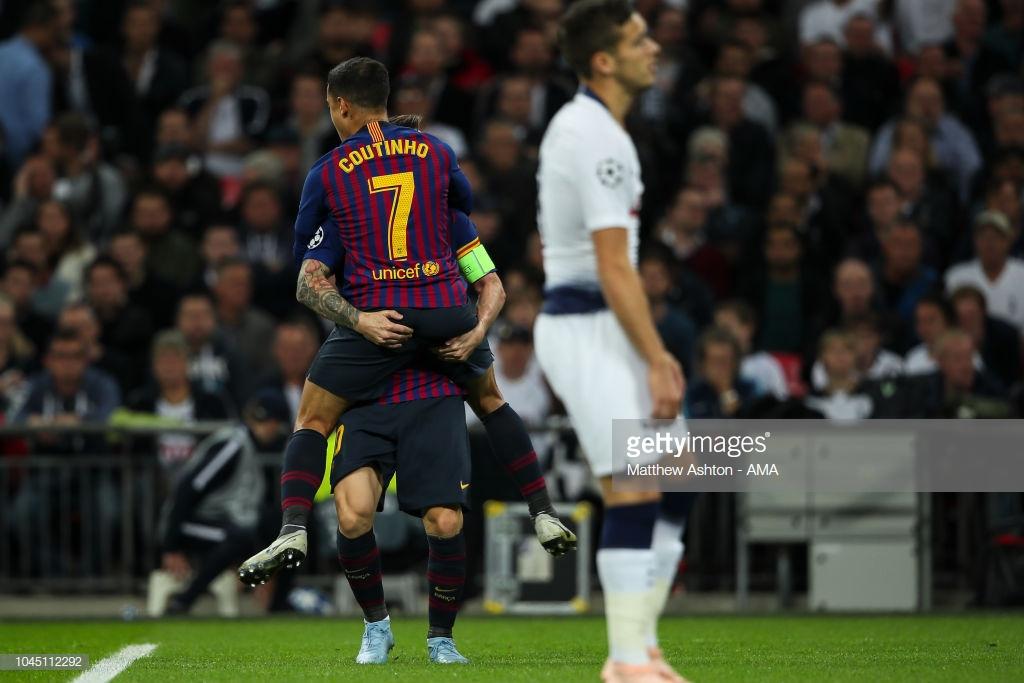صور مباراة : توتنهام - برشلونة 2-4 ( 03-10-2018 )  Image