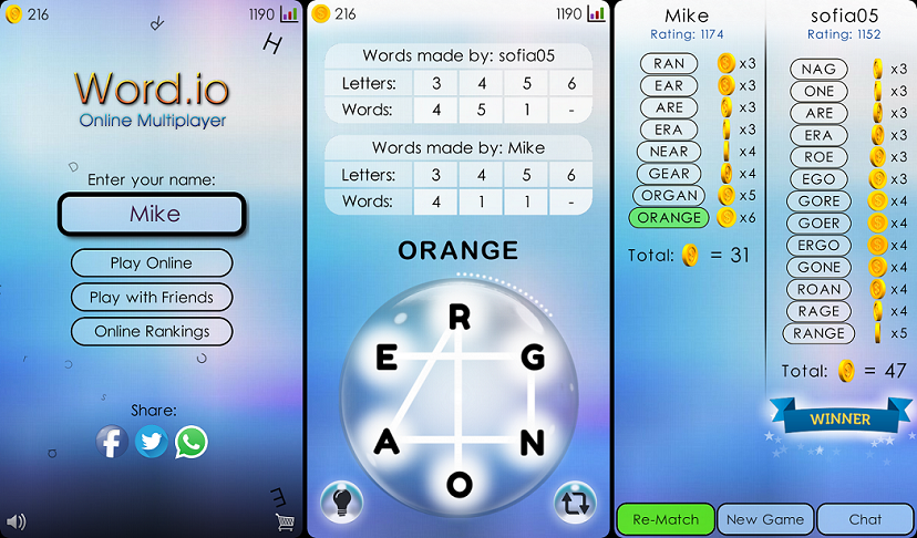 ▫▫▫ Word Io ▫▫▫ (Online Multiplayer) - Games Showcase