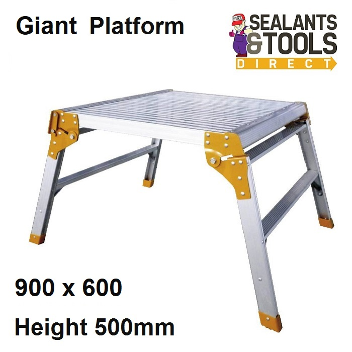 Folding Large 600 x 900mm Aluminium Work Platform Hop Up 150kg