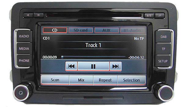 vw touran dab stereo rcd 510 dab radio 6 cd wechsler. Black Bedroom Furniture Sets. Home Design Ideas