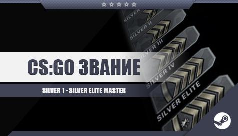 CS:GO со званием [От Silver I до Silver Elite Master]