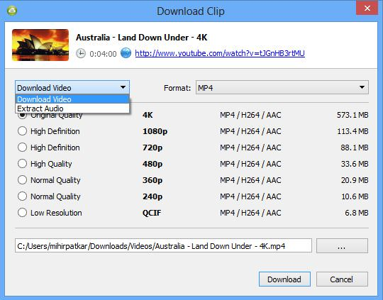 4K Video Downloader - convertidor youtube a mp3 gratis