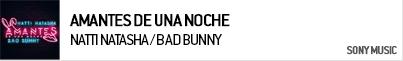 NATTI NATASHA / BAD BUNNY AMANTES DE UNA NOCHE