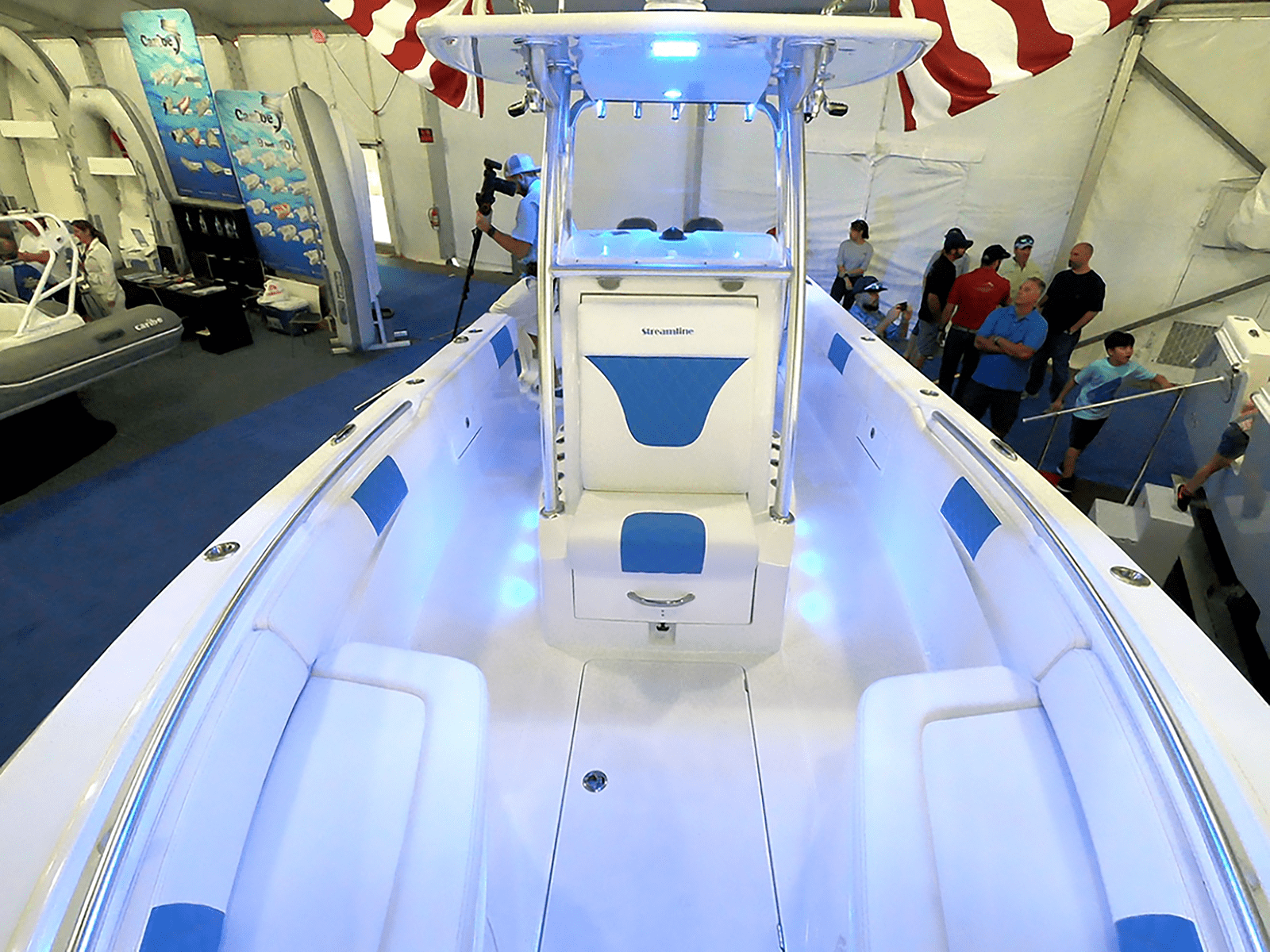 SLB_boat_show_bow_interior_26_ice_blue
