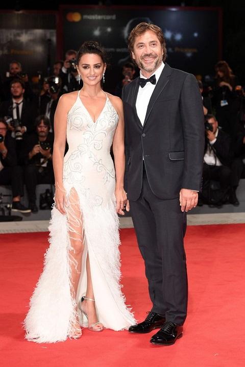 Penélope Cruz  and her husband Javier Bardem