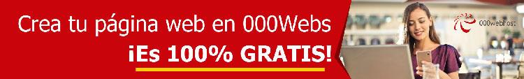 Crea tu página web con 000webHost Hosting web Gratis