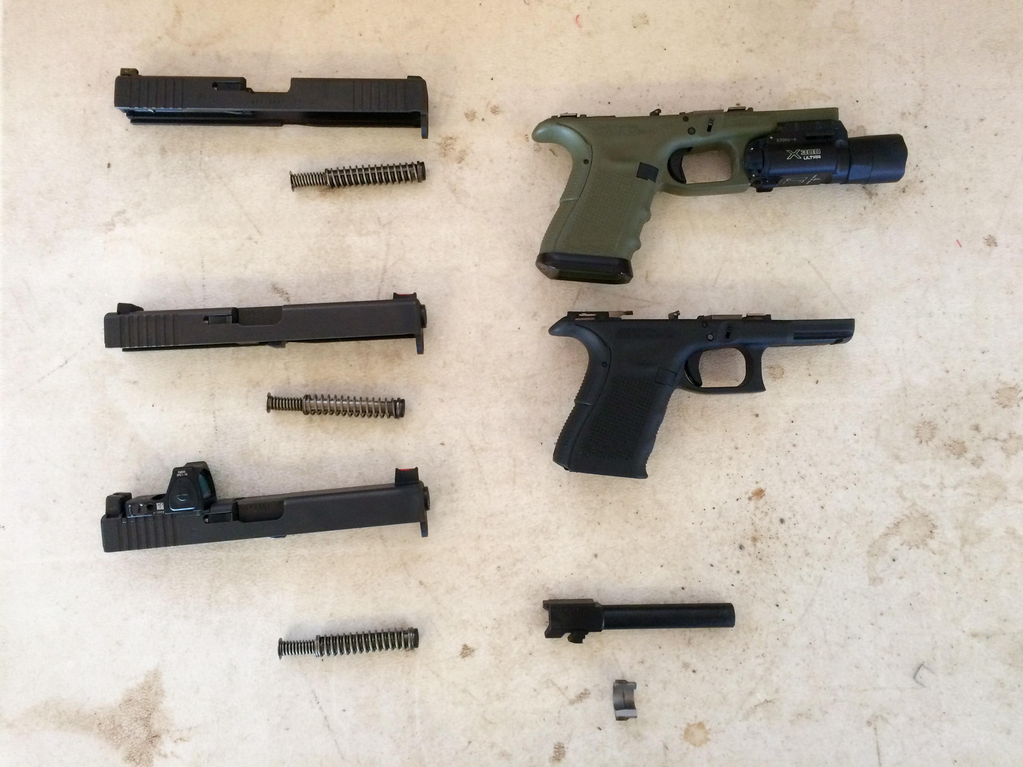 Glock 17 gen 4 slide on a 19 gen 4 frame. No grip chop needed. RANGE ...