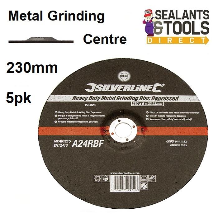 Metal Grinding Discs 230mm 261268-5 Pack of 5