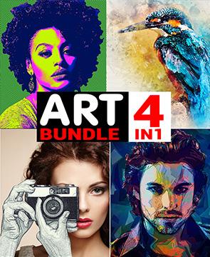 Art Bundle  - Art Bundle - Tech Sketch Photoshop Action