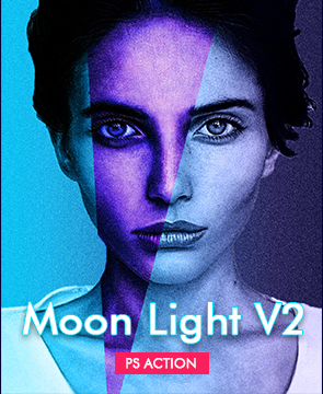 Moon Light v2  - Moon Light 2 - Tech Sketch Photoshop Action