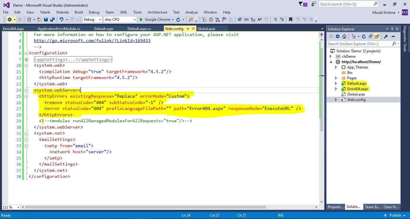 HttpErros not working IIS Server | The ASP NET Forums