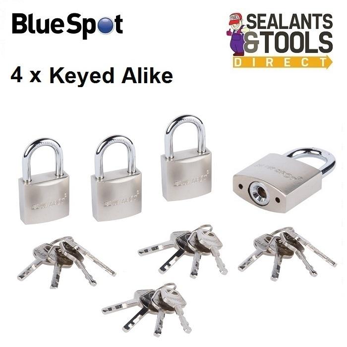 Blue Spot Same Key Keyed Alike 30mm Padlock 70963 Pack of 4