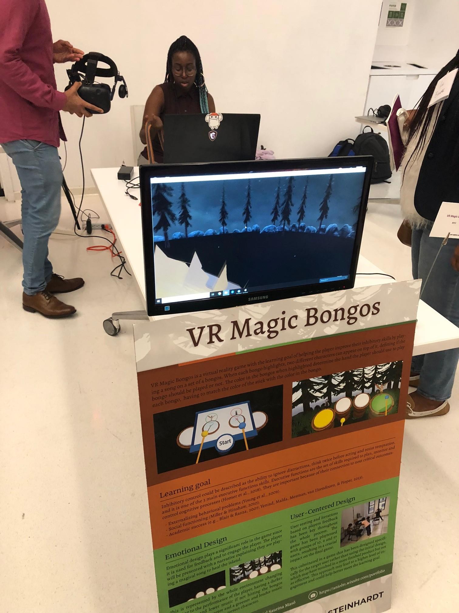 Karl-Mary using VR bongos