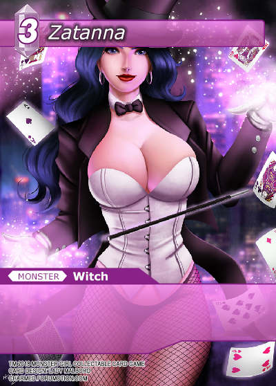 Monster Girl Collectible Card Profiles: Villainesses! - Page 2 Zatanna