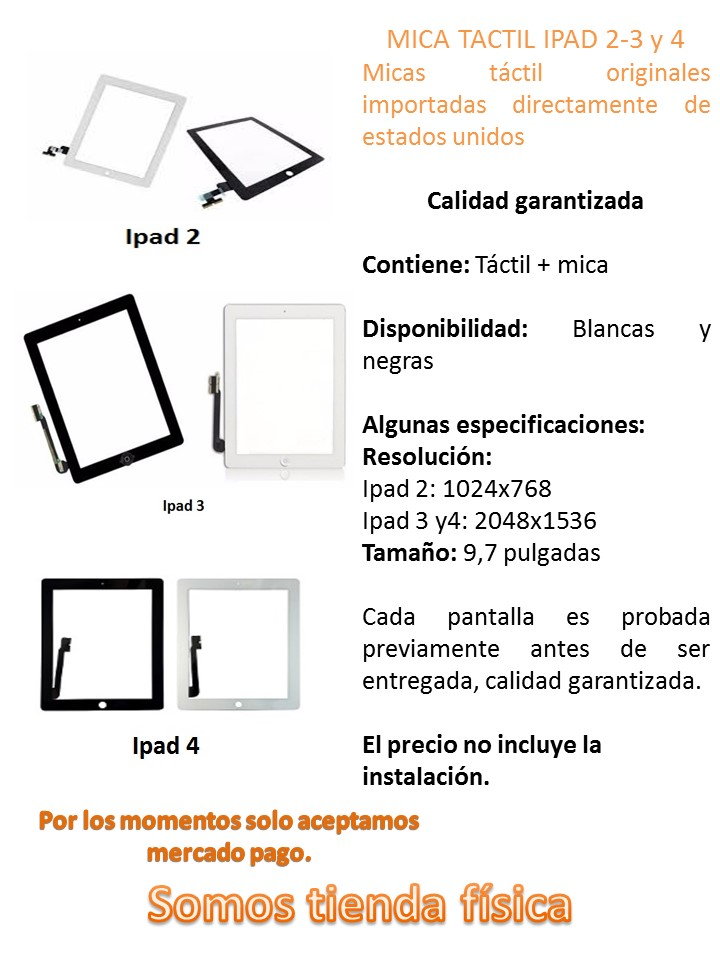 Tactil Digitizer Ipad 2 3 4