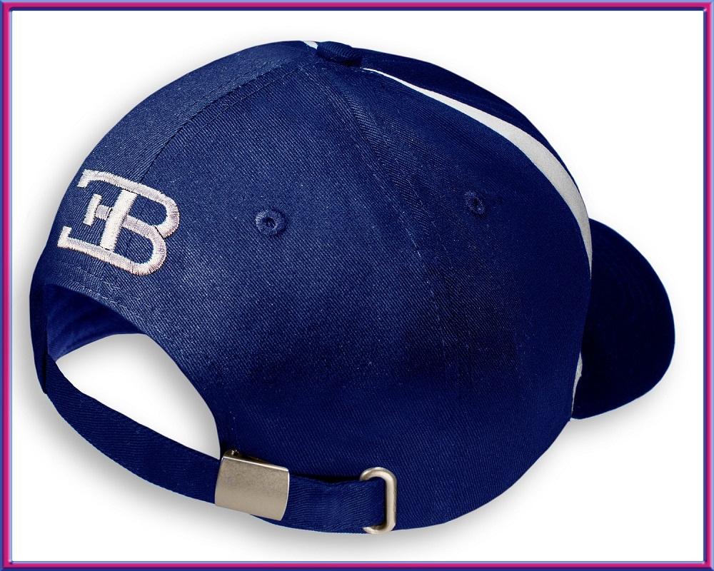 23a17578c9e Classic baseball unisex cotton twill cap  100% cotton  Dark blue color with  BUGATTI logo