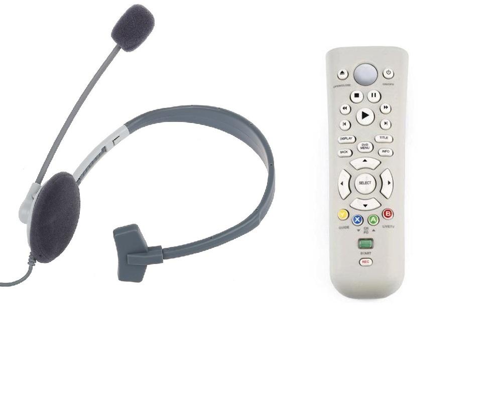 Cuffia con Microfono e Telecomando Compatibili Xbox 360 Bundle  74f41967f481