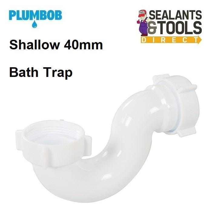 Plumbob Shallow 40mm Bath Trap 345423