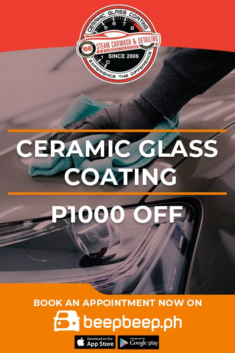168 Steam Carwash and Detailing - Ceramic glass coating promo