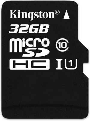 MICRO SD KINGSTON 32GB CLASS 10