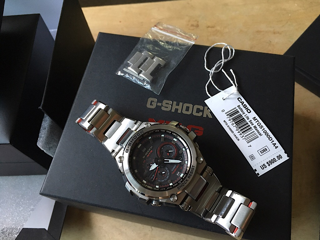 Sold Casio Mt G Shock Mtg S1000d 1a4 Sapphire Crystal Size Of Case Total Weight 586 X 535 155mm 188