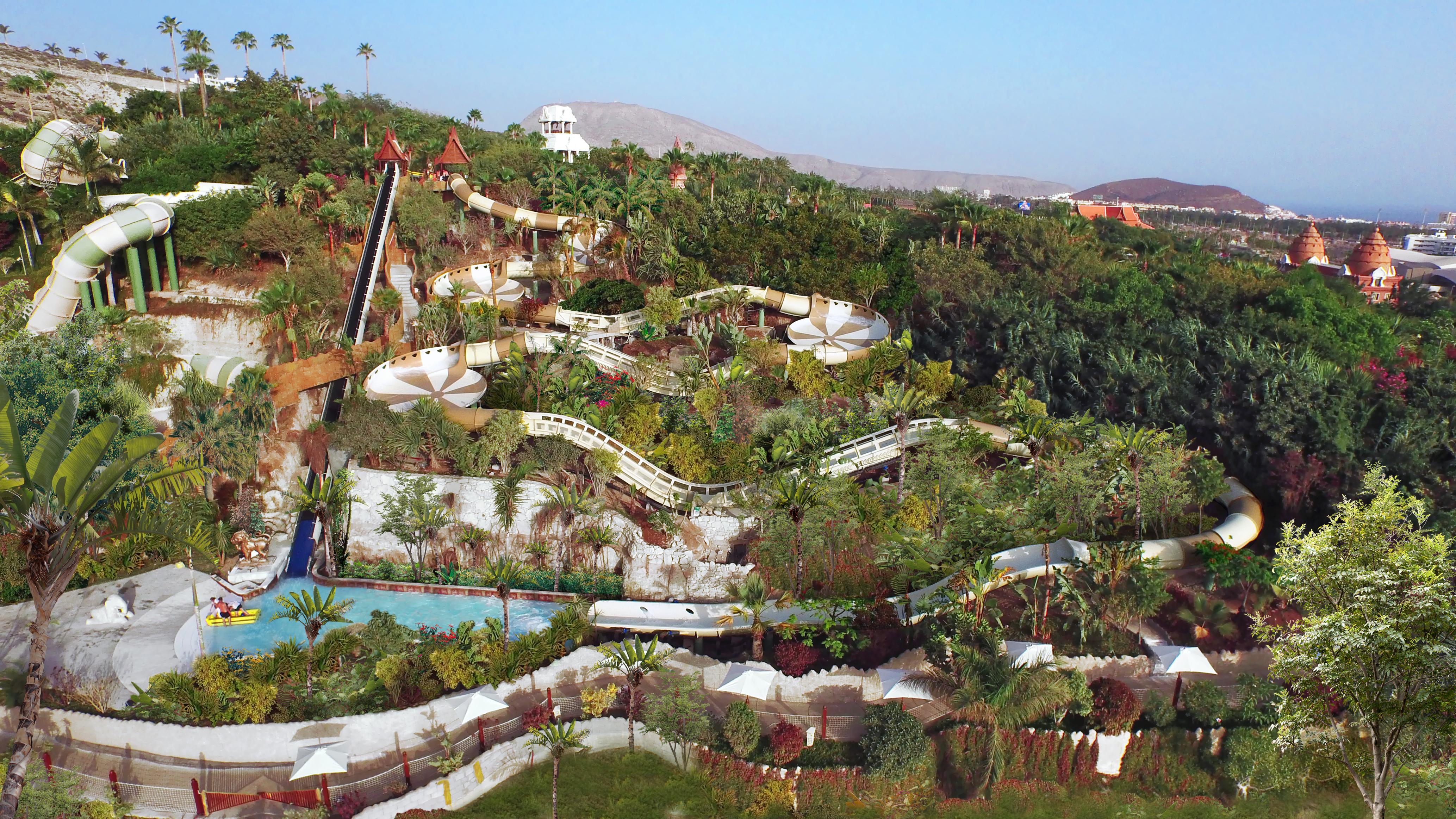 Singha water slide at Siam Park