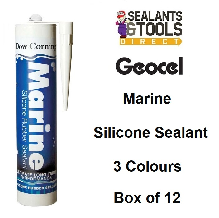 Geocel Marine Sealant 310ml Black Clear White Box