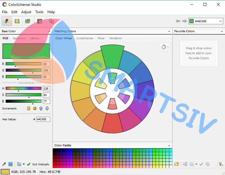 Color Schemer Studio 2.1.0 + Serial Key Free Download