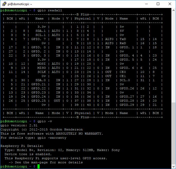solved gpio init error in domoticz but wiringpi is working domoticz rh domoticz com raspberry pi apt-get wiringpi Apt-Get Search