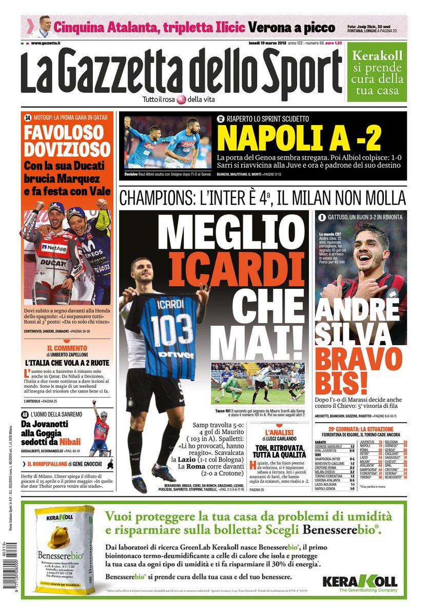 عناوين الصحف الايطاليه 19/3/2018 DYn3_R3b_V4_AEYJPA.j