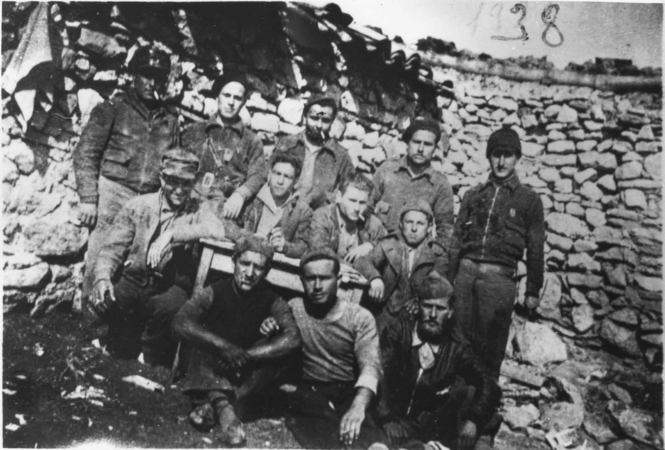 Grupo de la 153 BM, Frente de Aragón 1938 (Fuente: Arxiu Comarcal del Bages)
