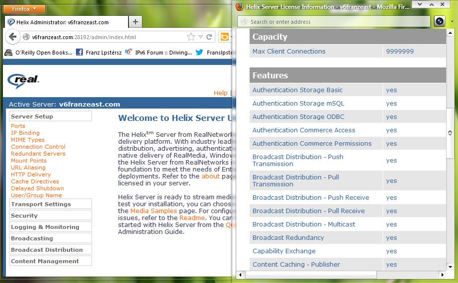 Helix-Server-Admin-Web Interface