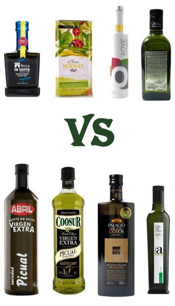 Hojiblanca o Picual, aceite de oliva Hojiblanca o Picual, Hojiblanca vs Picual, comparativa Picual Hojiblanca