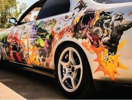 Car Side Full Color Graphics Vinyl Sticker Custom Body