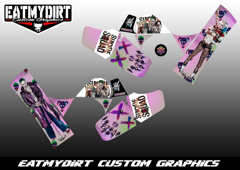 FOR SUZUKI LT50  CUSTOM GRAPHICS LT 50 ATV QUAD MX DECALS STICKERS