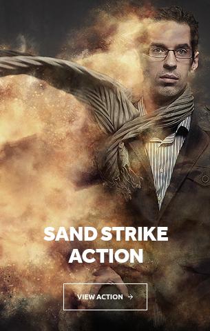 Sand Strike Photoshop Action