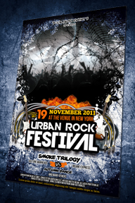 Grunge Urban Rock Flyer Template - 55