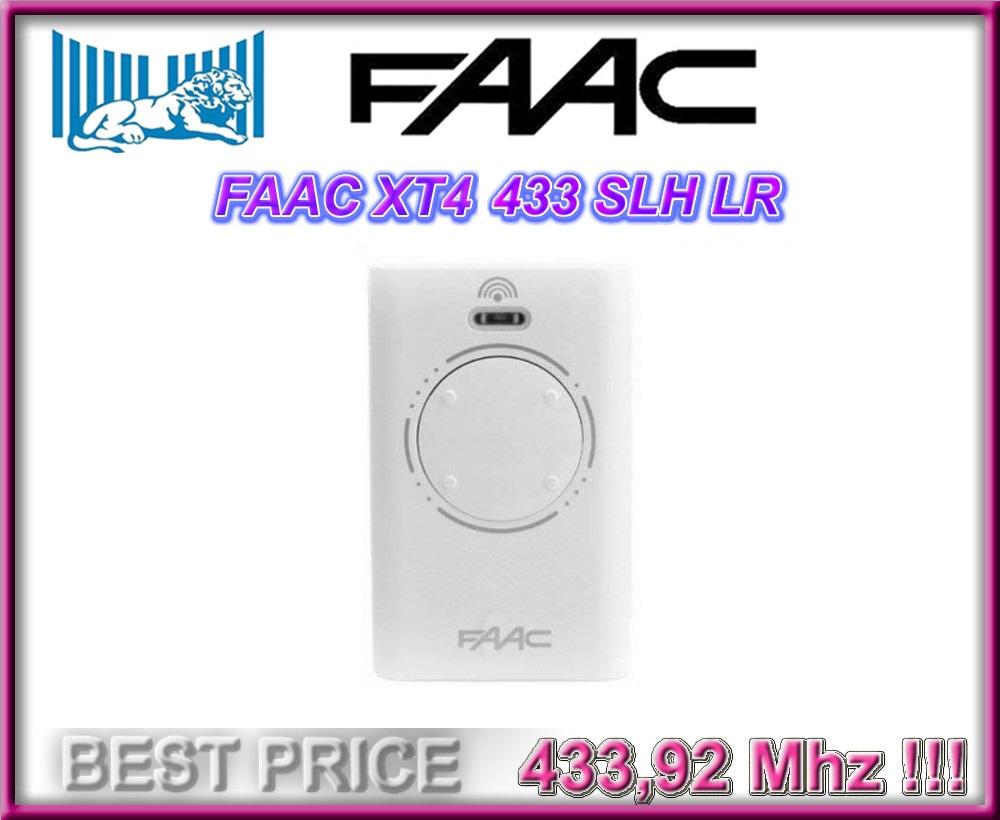 6X Control Remoto FAAC XT4 433 SLH 433.92 MHz
