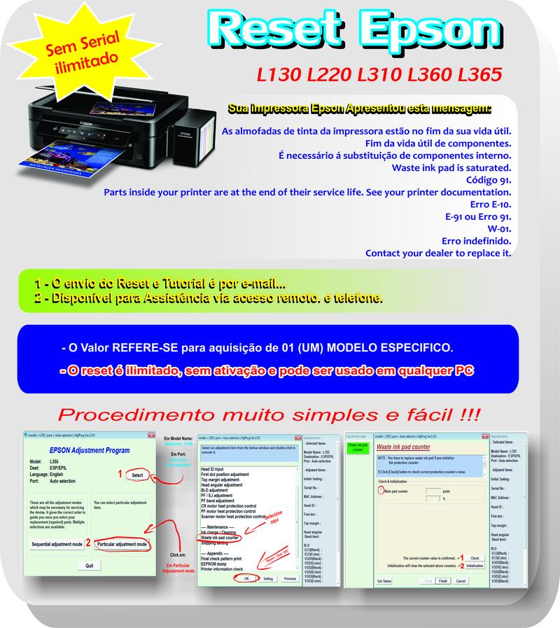 Reset Epson L365