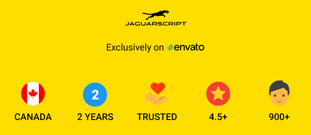 JaguarScript Trusted By Envato
