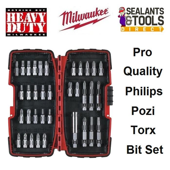 Milwaukee Drill Driver Bit Set Phillips Torx Pozi 4932352068